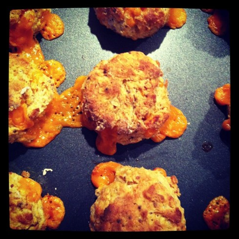 Mimolette cheese scones