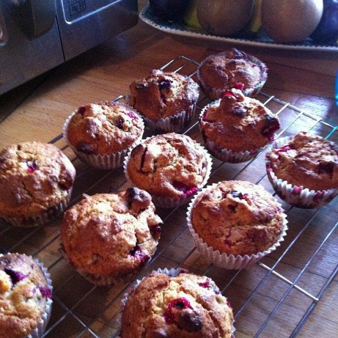 Cranberry clementine muffins