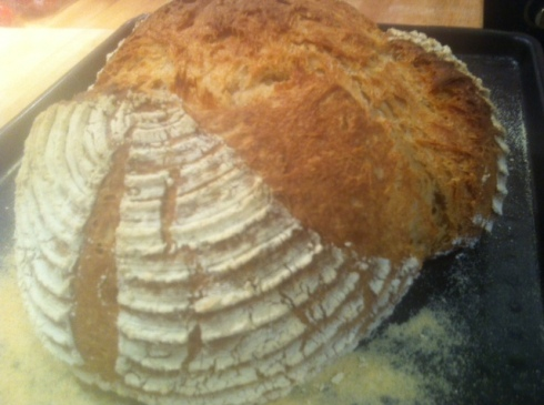 Freshly baked home made bread