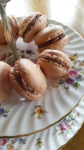 Chocolate orange macarons